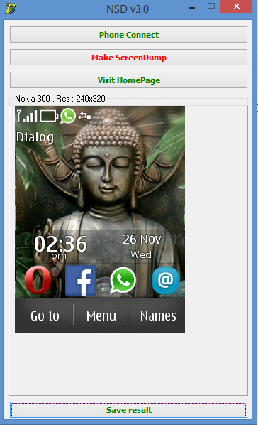 Take screenshots in Nokia Asha 300 (S40)