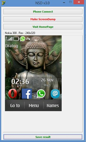 Take screenshots in Nokia Asha 300 (S40)