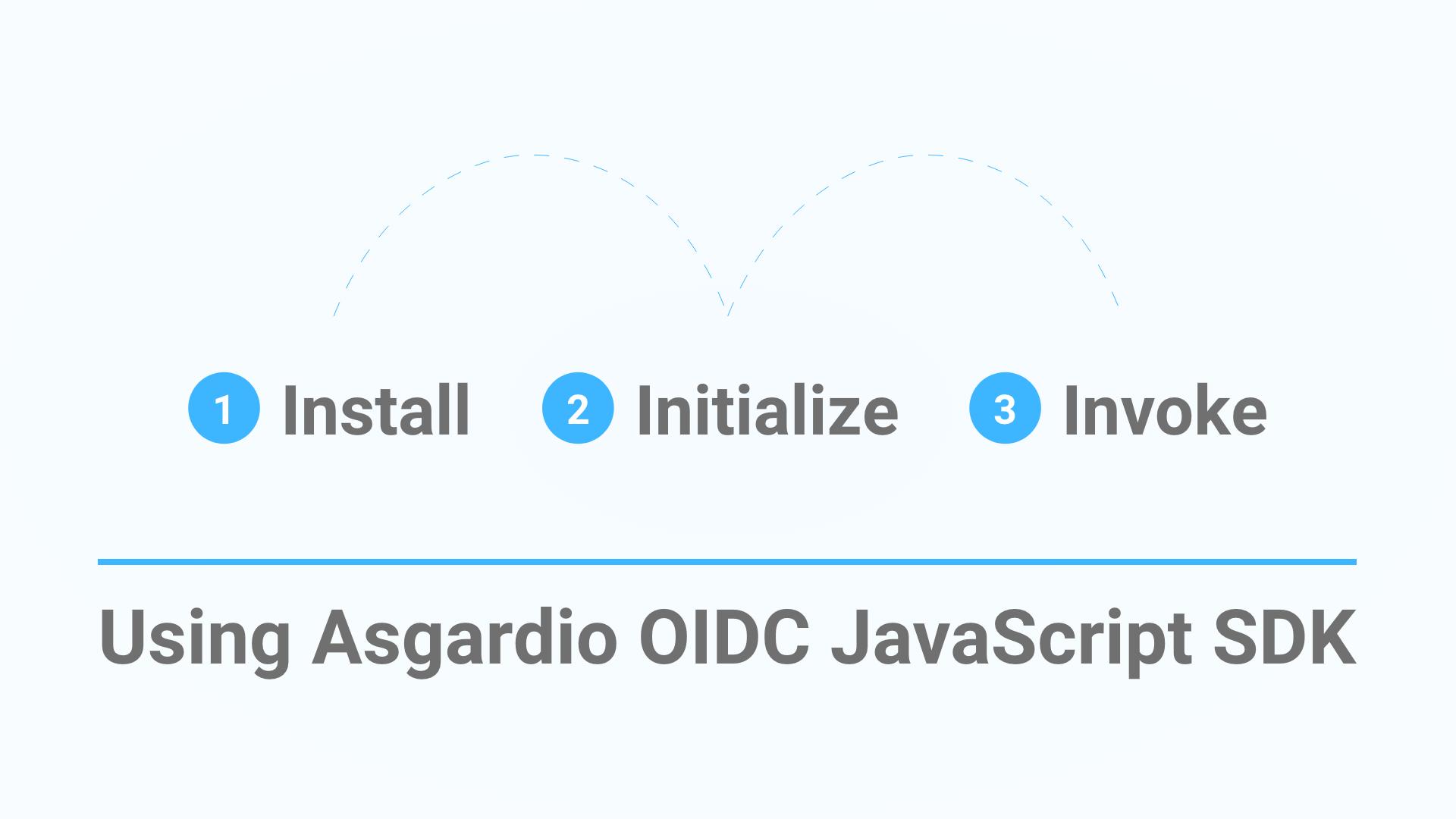 Asgardio OIDC JS SDK: Bootstrap in three easy steps