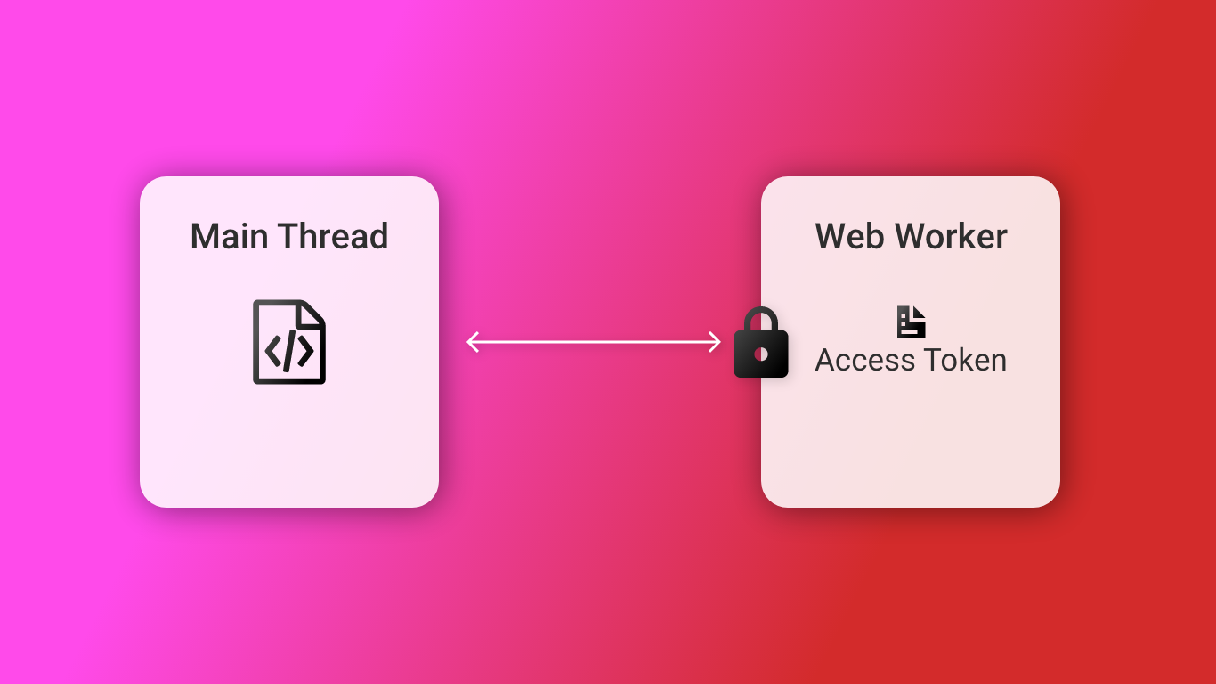 Leveraging web workers to safely store access tokens